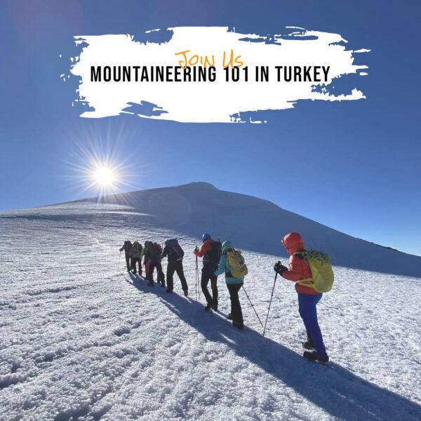 Mountaineering 101 in Turkey